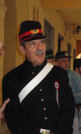 Il prof Compagni duranet la sua paretcipazioen nel 2011 alle celebrazioni ai Ronchi per il 150° dell'Unità d'Italia