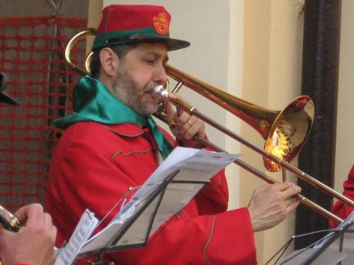 Gabriele Migliori è il Maestro comandante la Fanfara Garibaldina del Petronio Setti